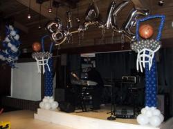 Basketball Balloon Column