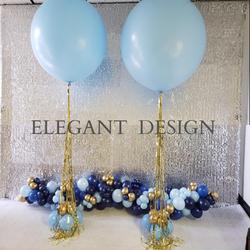 Big Blue Balloon Centerpiece