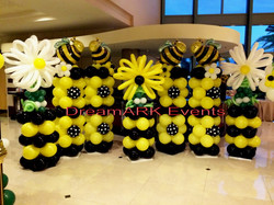 Honey Bee & Balloon Flower Column
