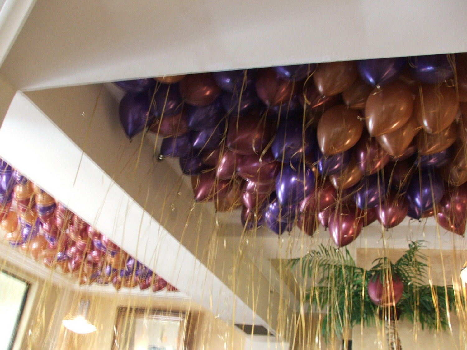 Pearl helium balloons with ribbon