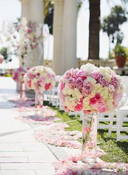 Wedding Ceremony Aisle Flower Decor