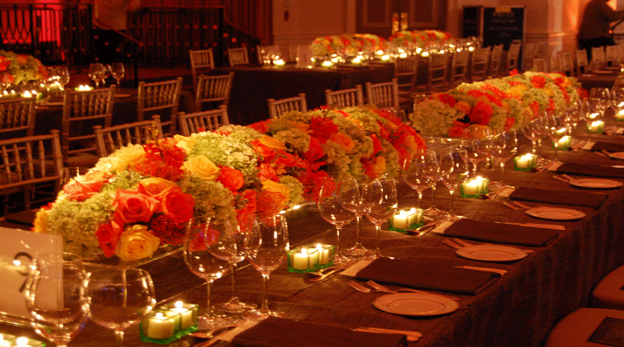 Long Table Flower Centerpieces