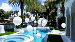 White Helium Balloons Swimming Pool