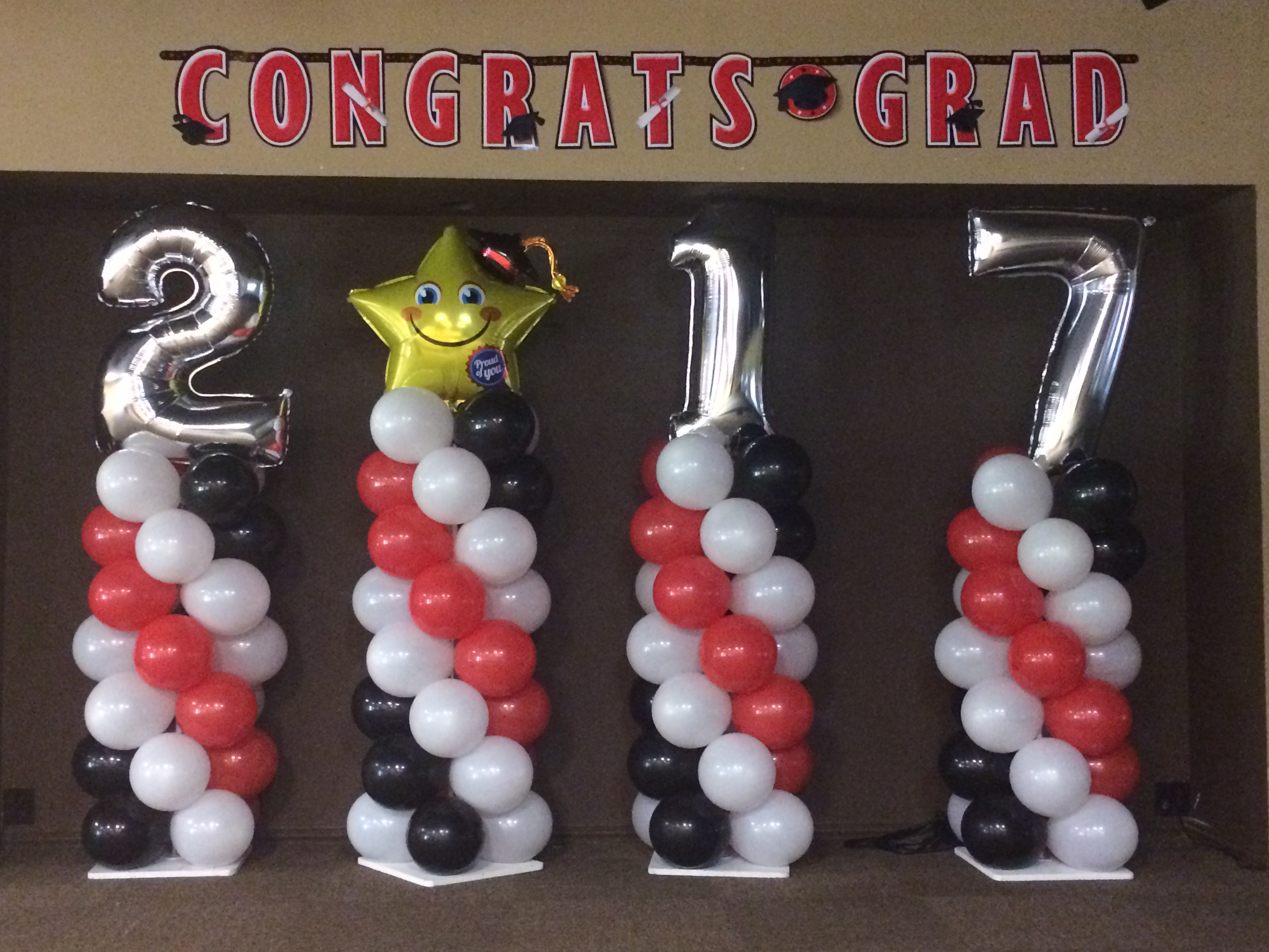 Graduation Balloon Columns