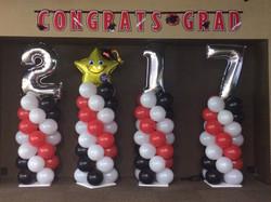 Graduation Balloon Columns