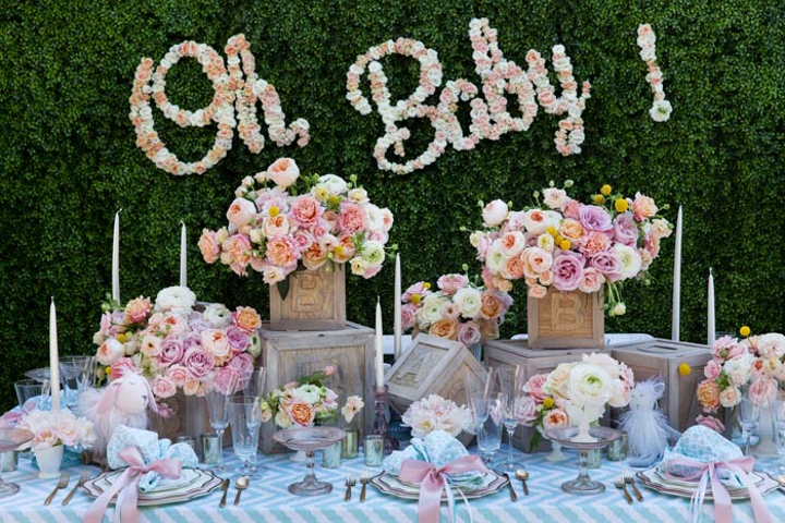 Oh Baby Flower Sign