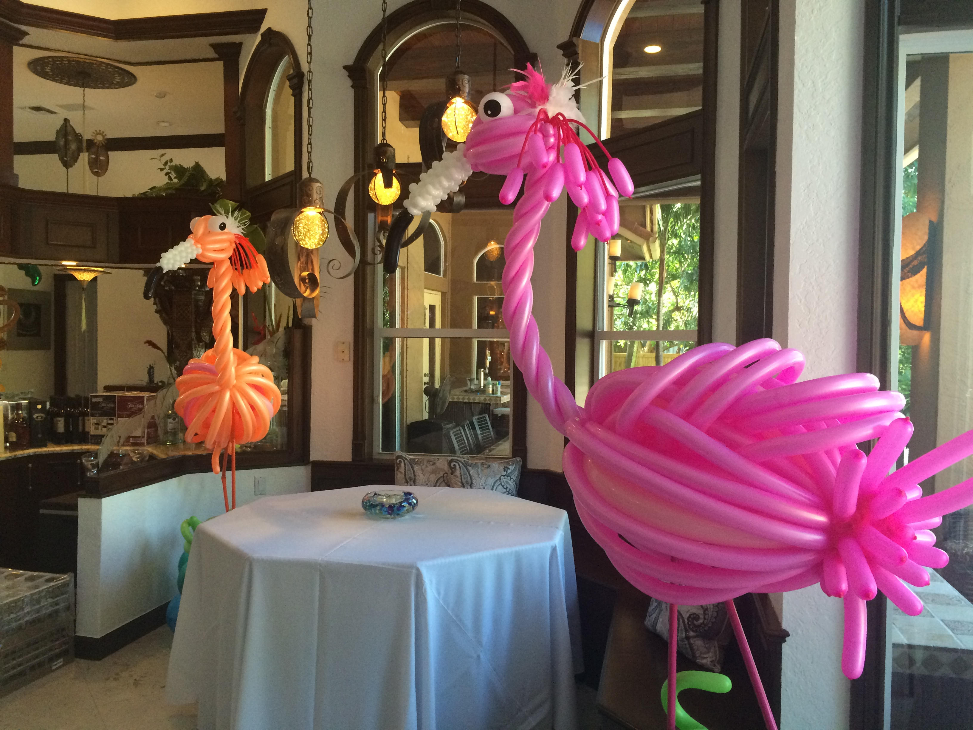 Flamingo Balloon Sculptures