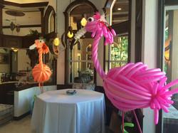 Flamingo Balloon Sculptures