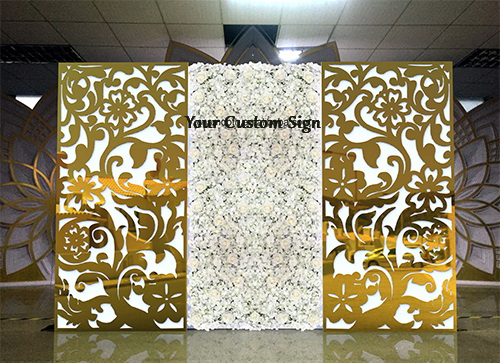 Elegant Gold Flower Backdrop