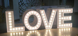 love letters with lights rental