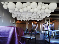 Ceiling Side Filled With Balloons
