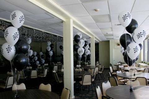 Race themed balloons