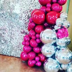 Silver Wall and Organic Balloons