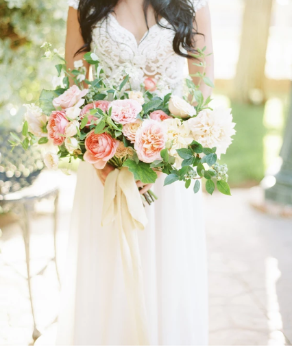 Garden-Style Summer Bridal Bouquet