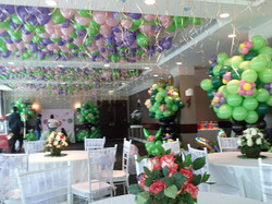 Loose Helium Balloons On a Ceiling