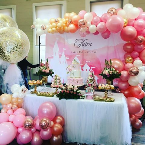 Pinks and Rose gold organic balloon