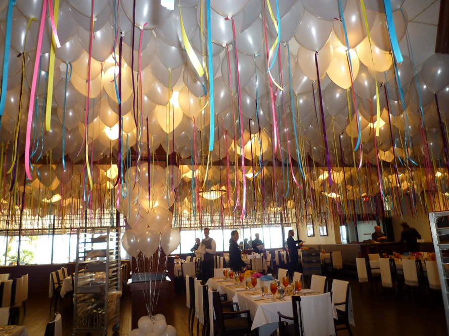 Helium Balloons For Ceiling Decor