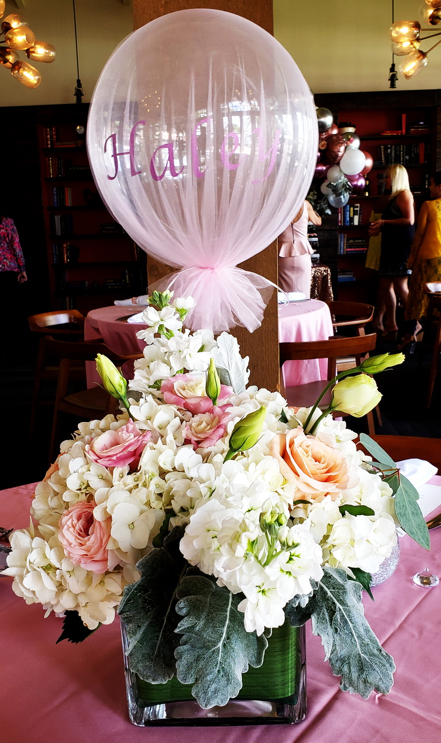 Custom balloon design and flowers