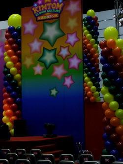 Stage decoration by Big Balloon Column Columns