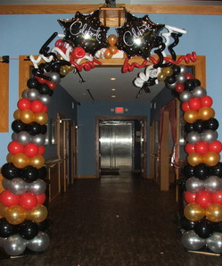 Happy New Year Balloon Arch