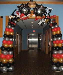 Happy New Year Balloon Arch