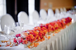 Head Table Floral Runner
