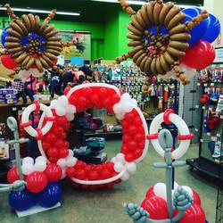 Navy theme event decoration
