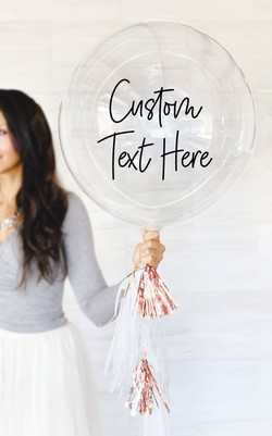 Custom Balloon Decal Personalized