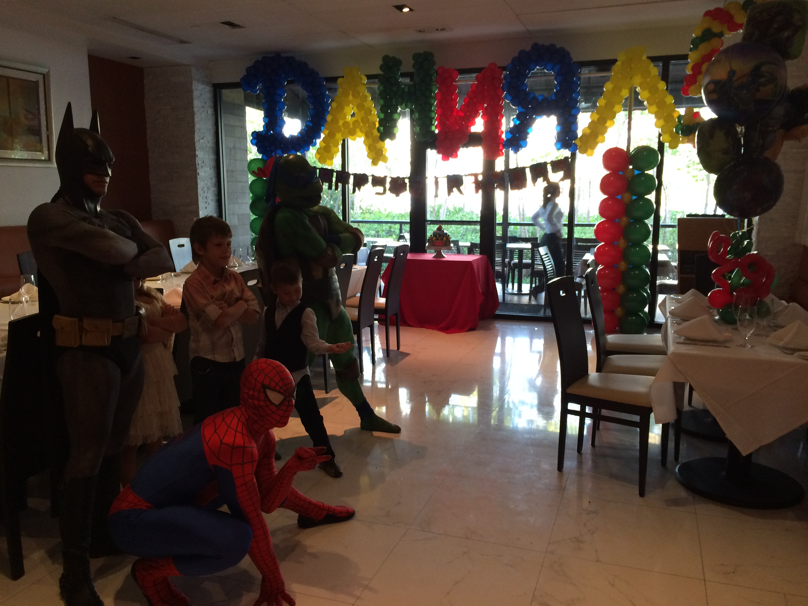 Super Hero Theme Kids Party Decor