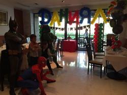 Super Hero Theme Kids Party Decor