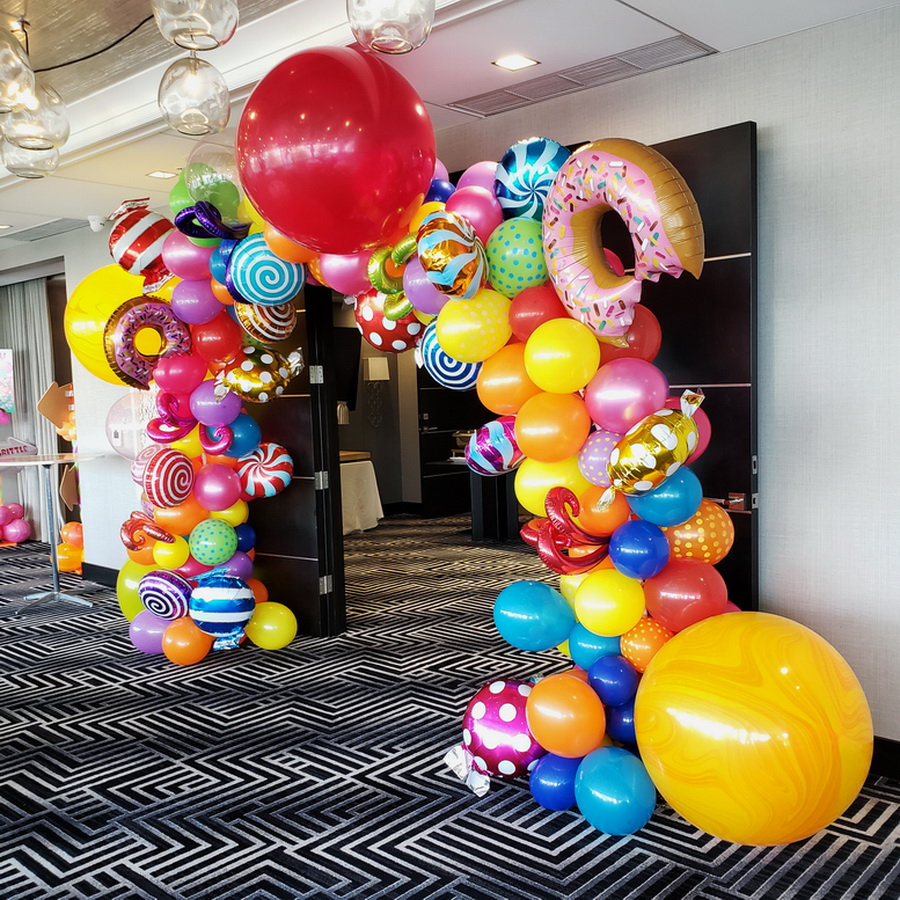 Candy Theme Balloon Arch