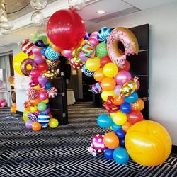 Candy Theme Balloon Arch