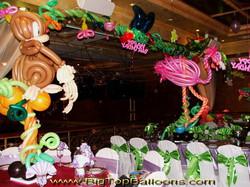 Tropical themed balloon animals