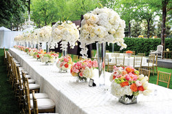 Centerpiece White & Coral Flowers