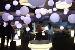 White Balloons on Ceiling