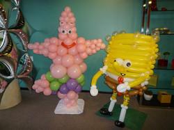 Sponge Theme Balloon Characters