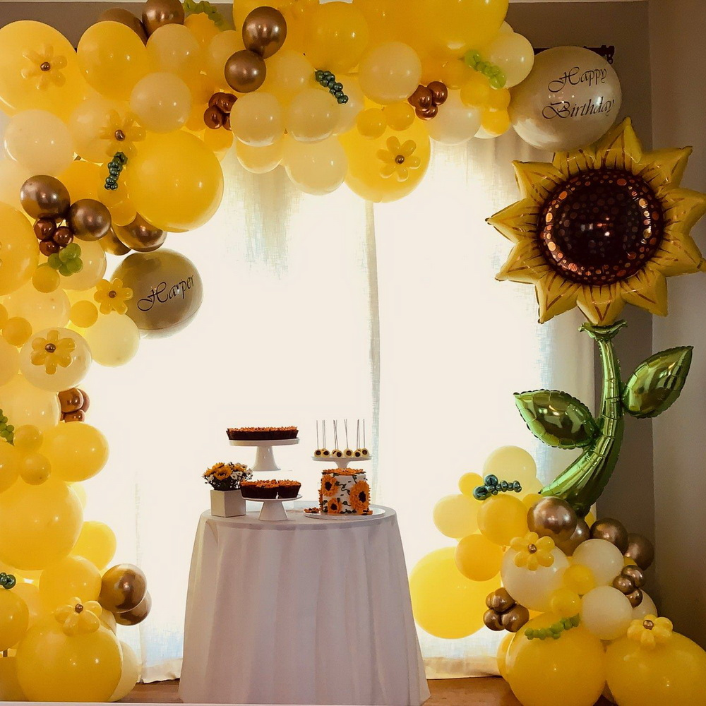 Sunflower Theme Balloon Arch