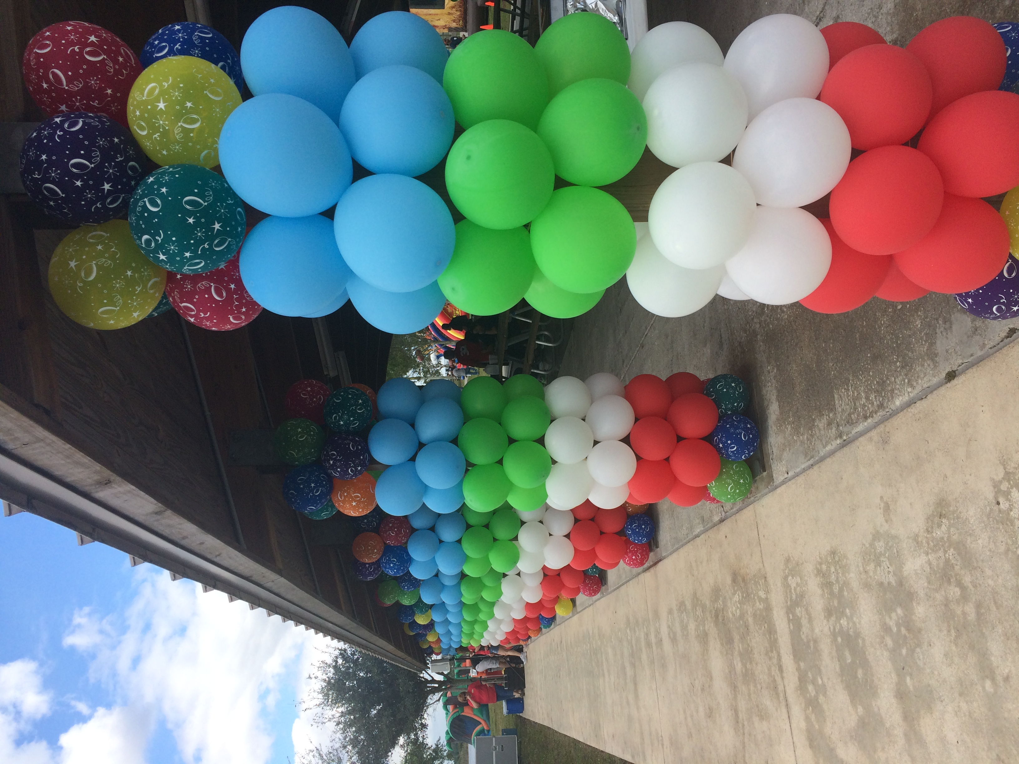 Park Pavilion Decorate with Balloons
