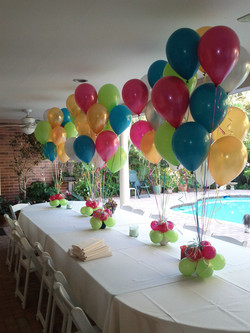Colorful Helium Balloons Centerpiece