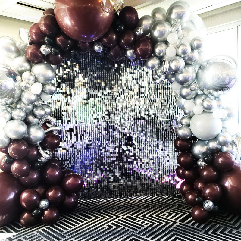 Shimmer Backdrop with organic Balloon ga