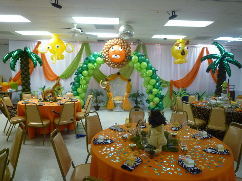 Tropical Theme Baby Shower