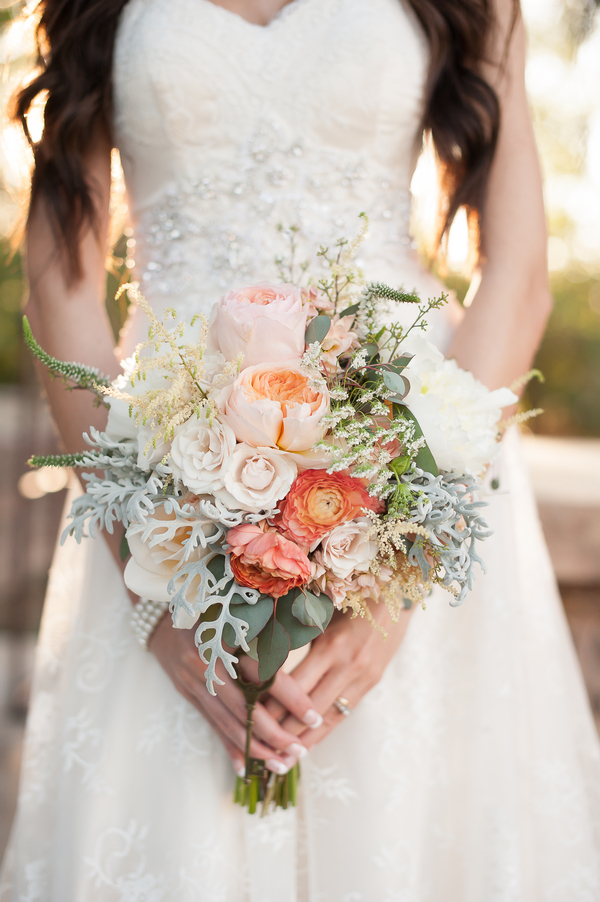 Coral & Blush Bridal Bouquet