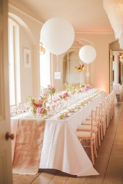 Peach Elegant table event decor