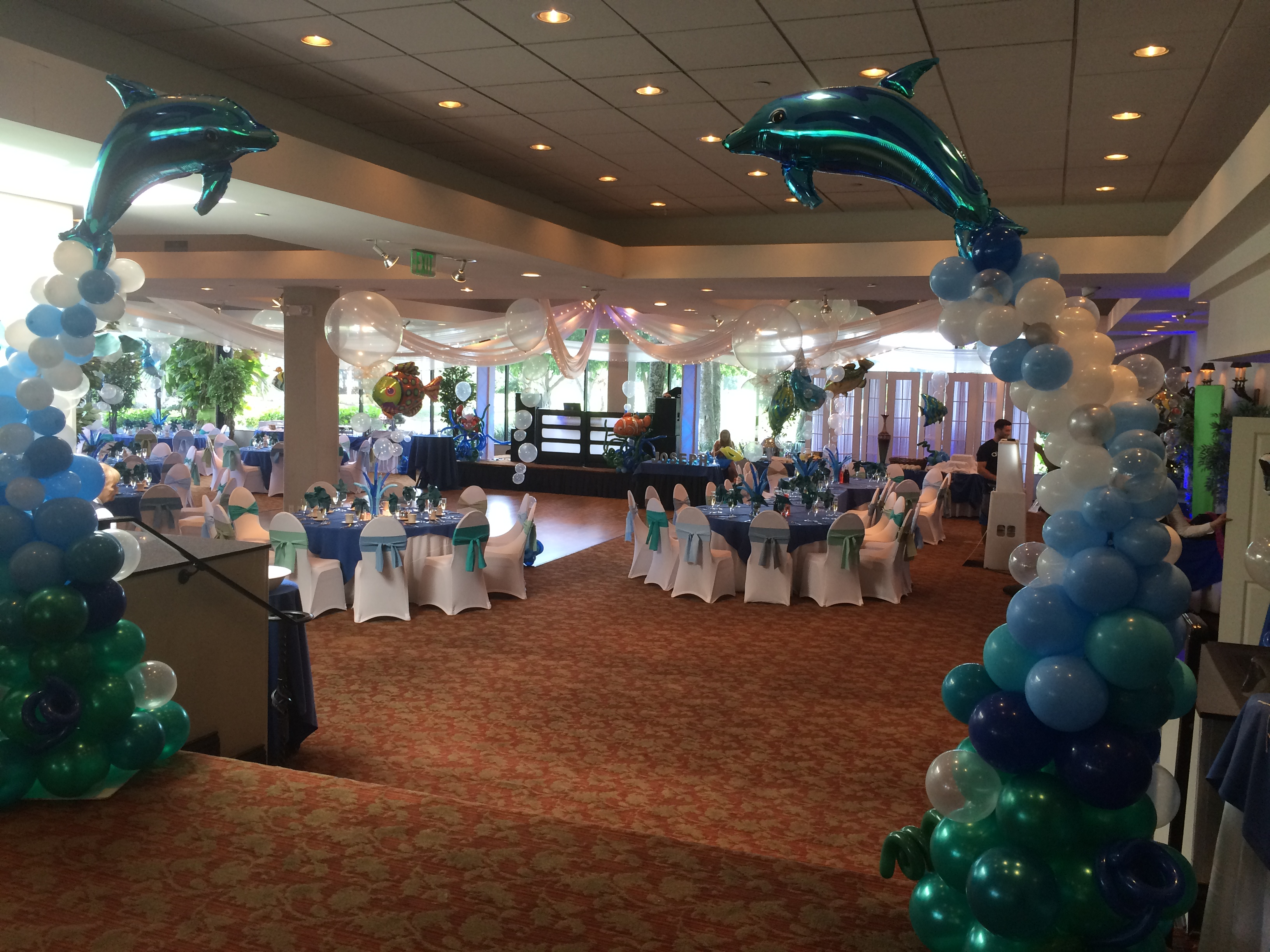 Sea theme party decoration