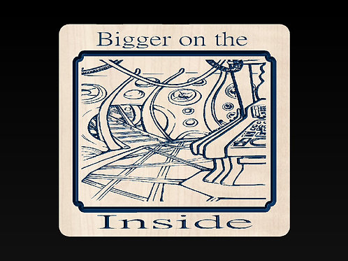 Doctor Who - Bigger on the Inside Plaque