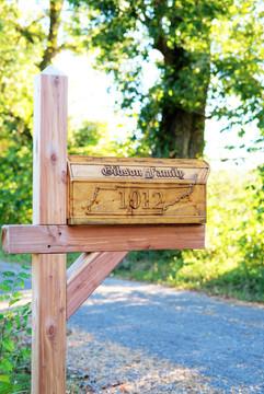 Finished mailbox