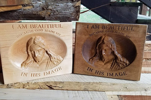 3D Engraved Wall Art - Jesus Plaque