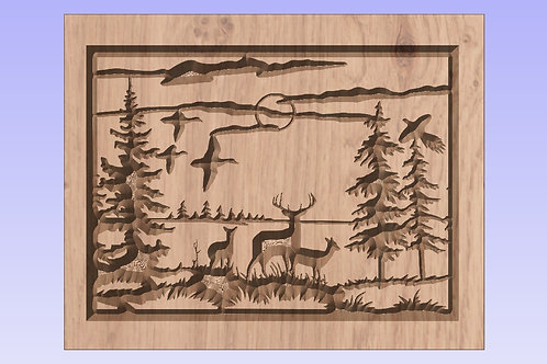 Deer in the Forest Picture/Sign/Plaque