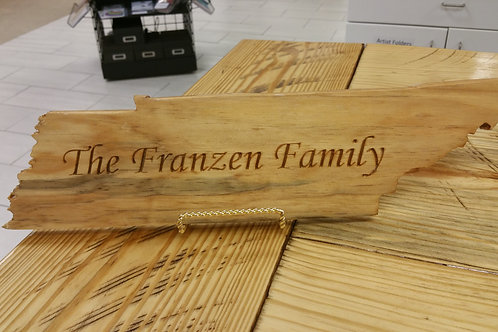 Custom Tennessee Family Sign/Plaque