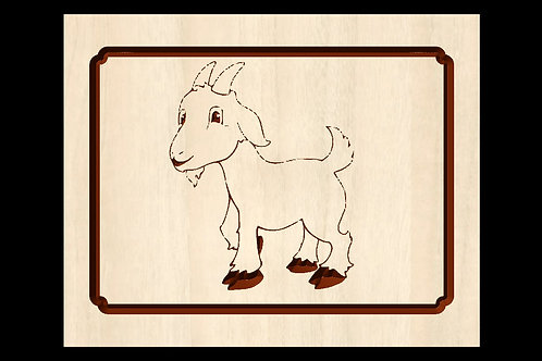 Billy Goat Wooden Plaque